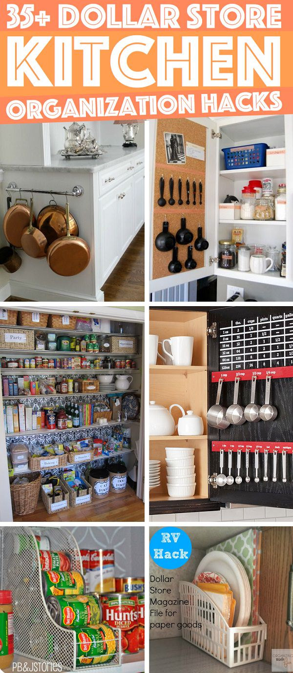 Organize your kitchen perfectly without spending much with the help of these dollar store KITCHEN organization hacks!