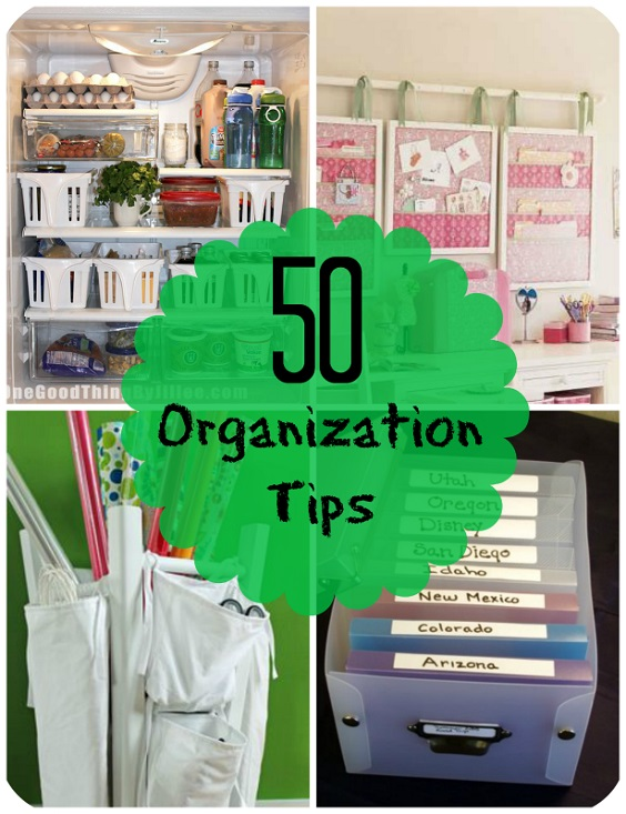 If you're looking for some cool organizational tips and ideas, these 50 Organization Tips are worth looking at!