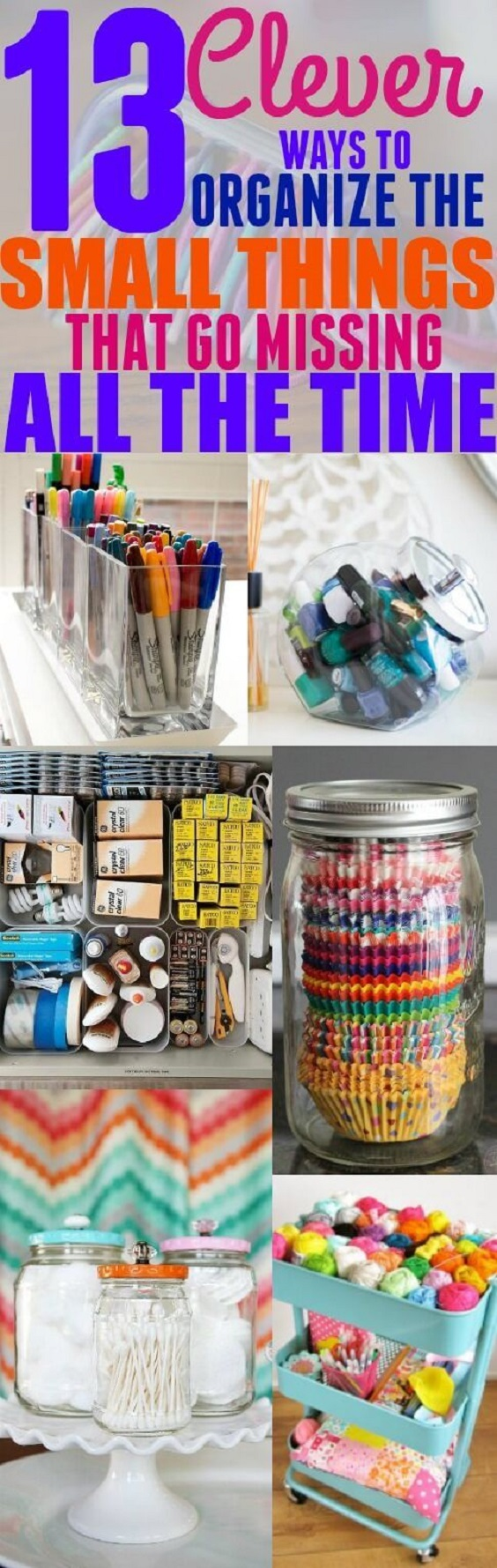 Small things like a phone charger or hair ties can make your home look untidy, but if you follow some of these brilliant hacks, you can organize them in no time!