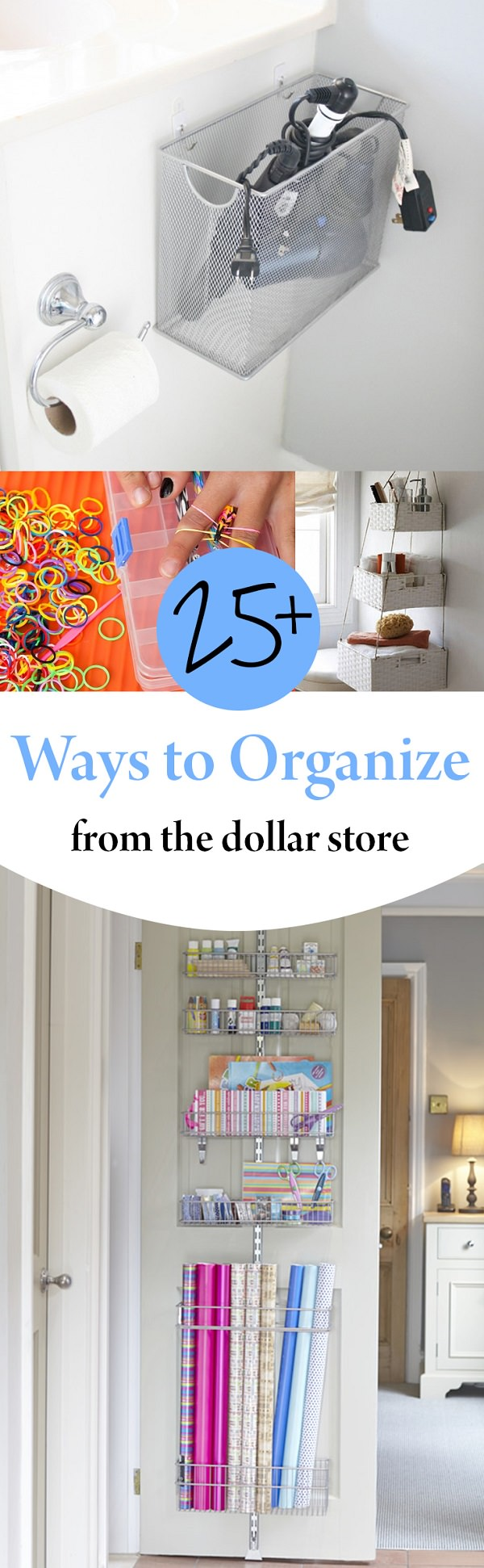 Here are some unique and clever ways to organize from the dollar store.