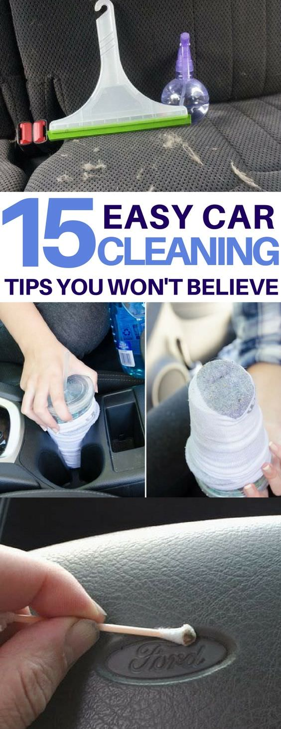 Life-changing car cleaning tips and tricks will make your car look brand new, easily and cheaply!