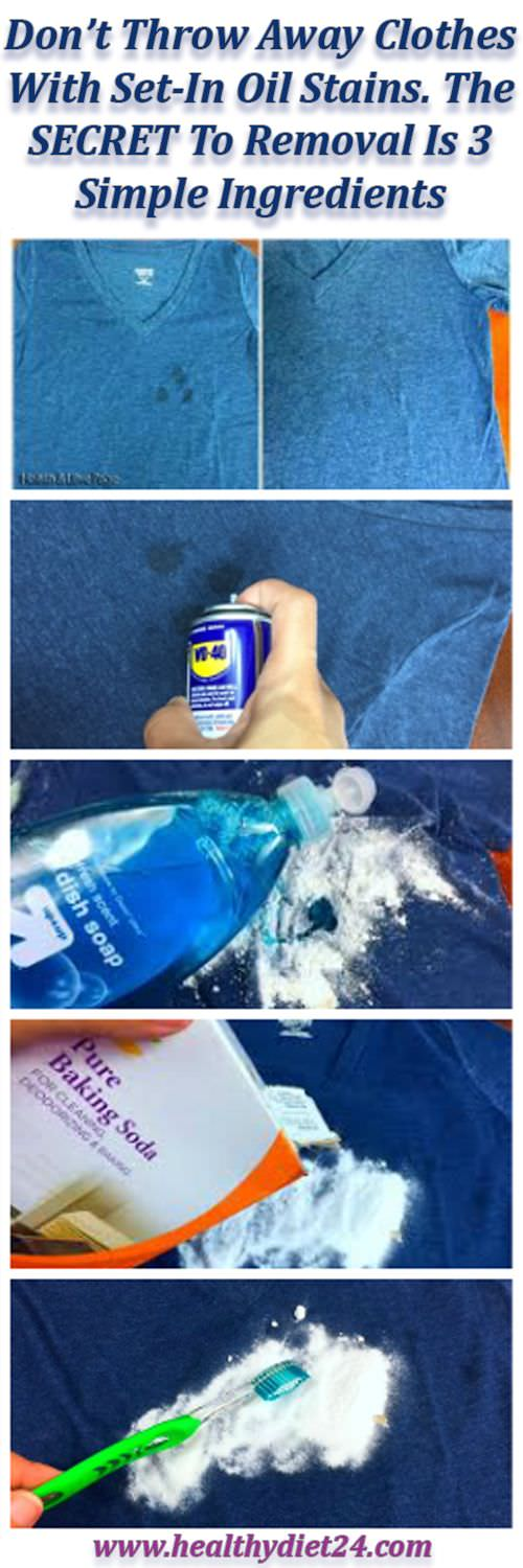Remove stubborn oil stains from clothes with just 3 simple for How to get rid of grease stains on shirts