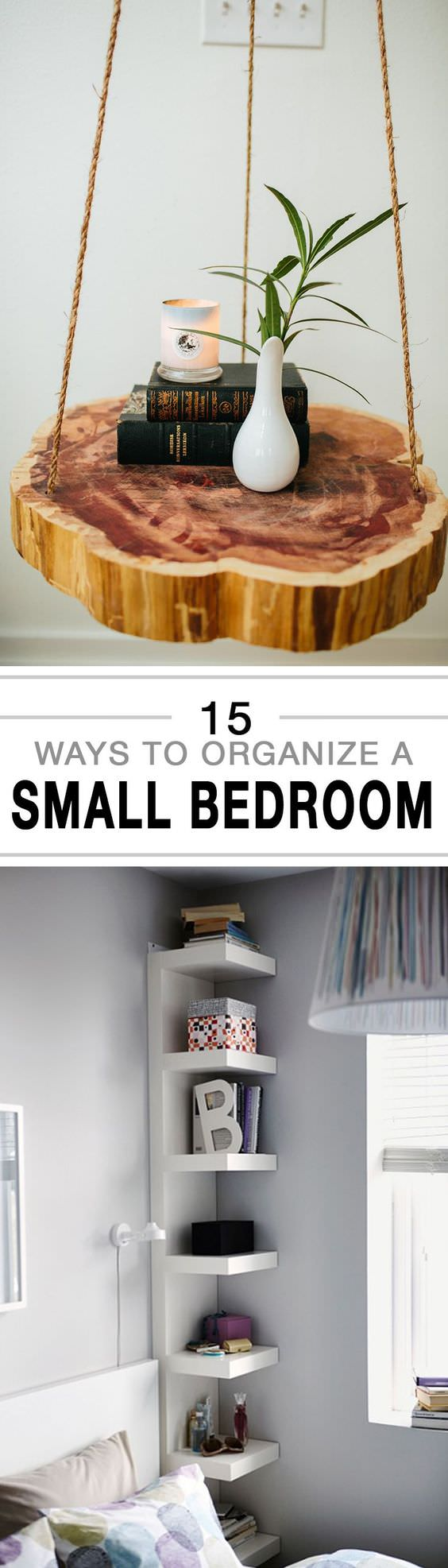 Get your small bedroom organized with these fantastic tips.