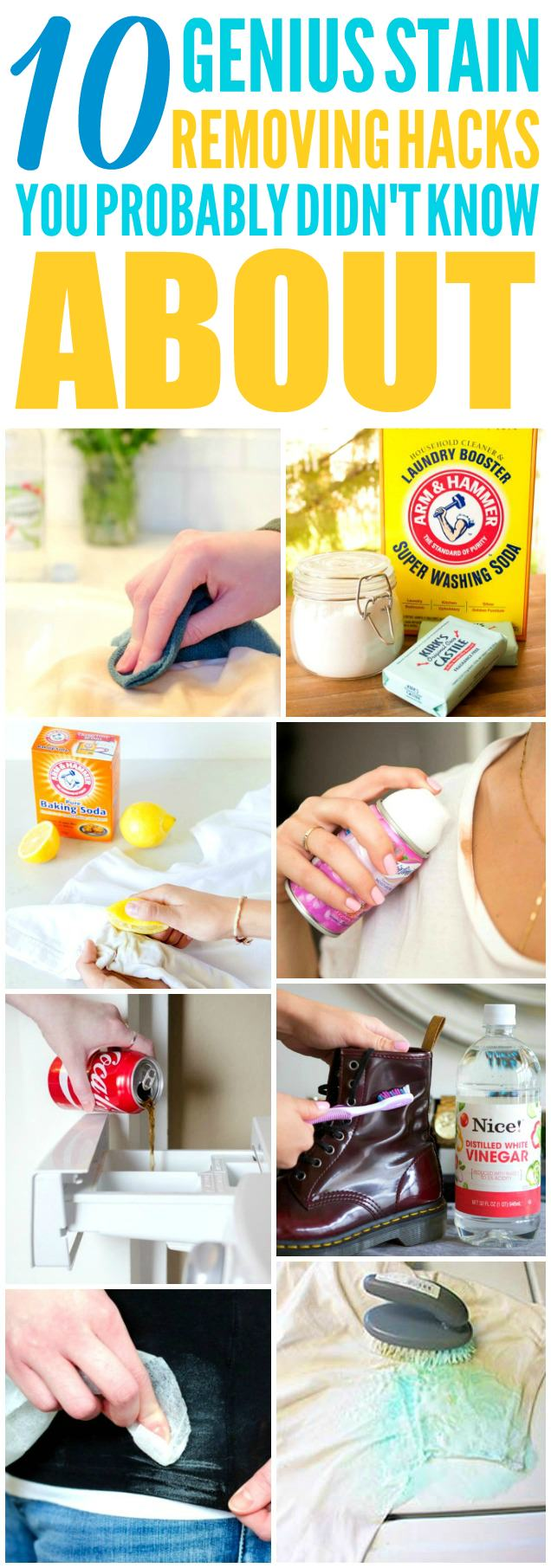 These awesome stain removing tips and tricks will definitely save you a lot of time and money!