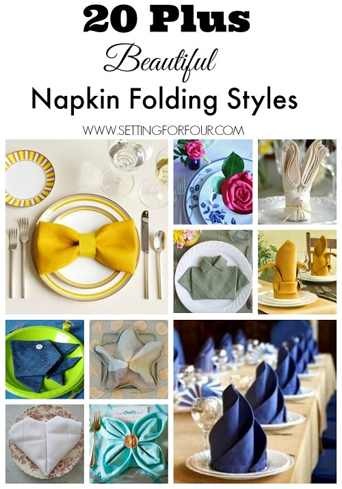 Whether you are throwing a party or just want to impress your guests, you'll love to know these 20+ Napkin Folding Styles!