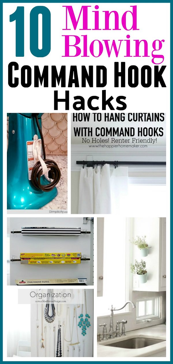 Command hooks are the best option when it comes to organizing your home quickly and inexpensively. Check out these clever hacks to organize your home!