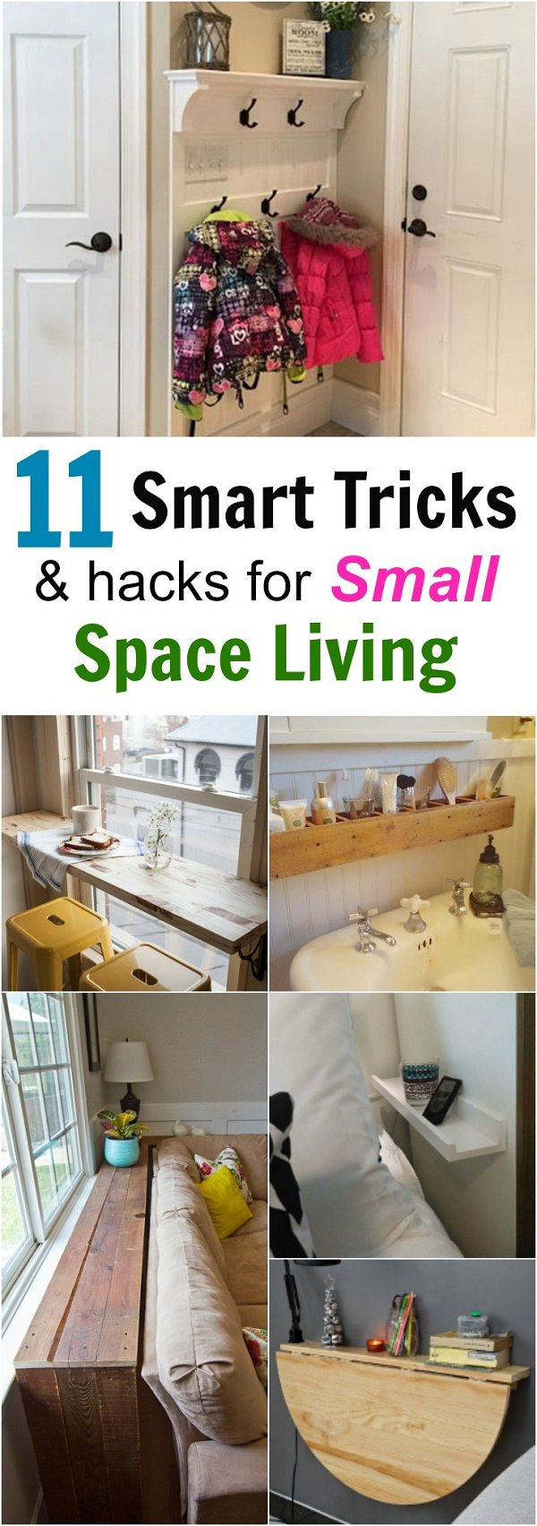 11 smart tricks for small space living house good for Small space living hacks