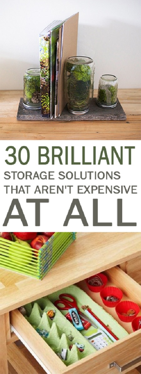 If you are looking to organize your home see these 30 Inexpensive Storage Solutions that will organize your home in no time!