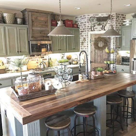 30 Brilliant Kitchen Island Ideas That Make A Statement: 25 Best Farmhouse Style Kitchens