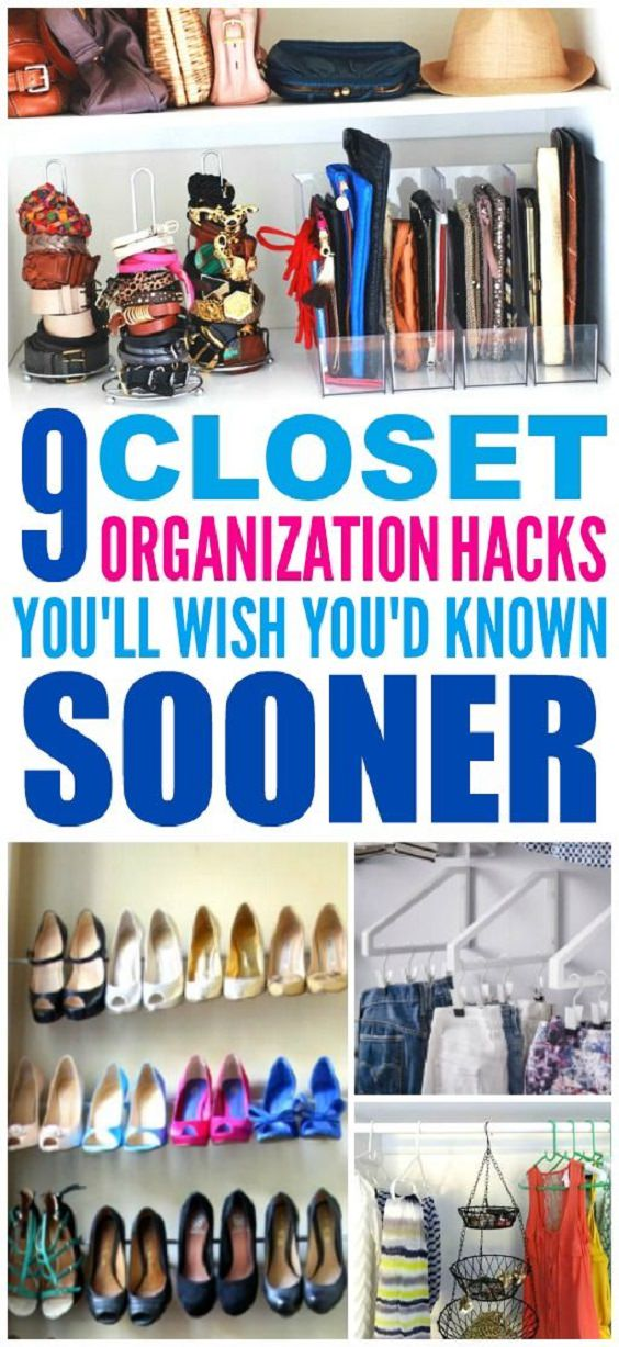 Here Are 9 Closet Organization Hacks That Are Brilliantly Easy.