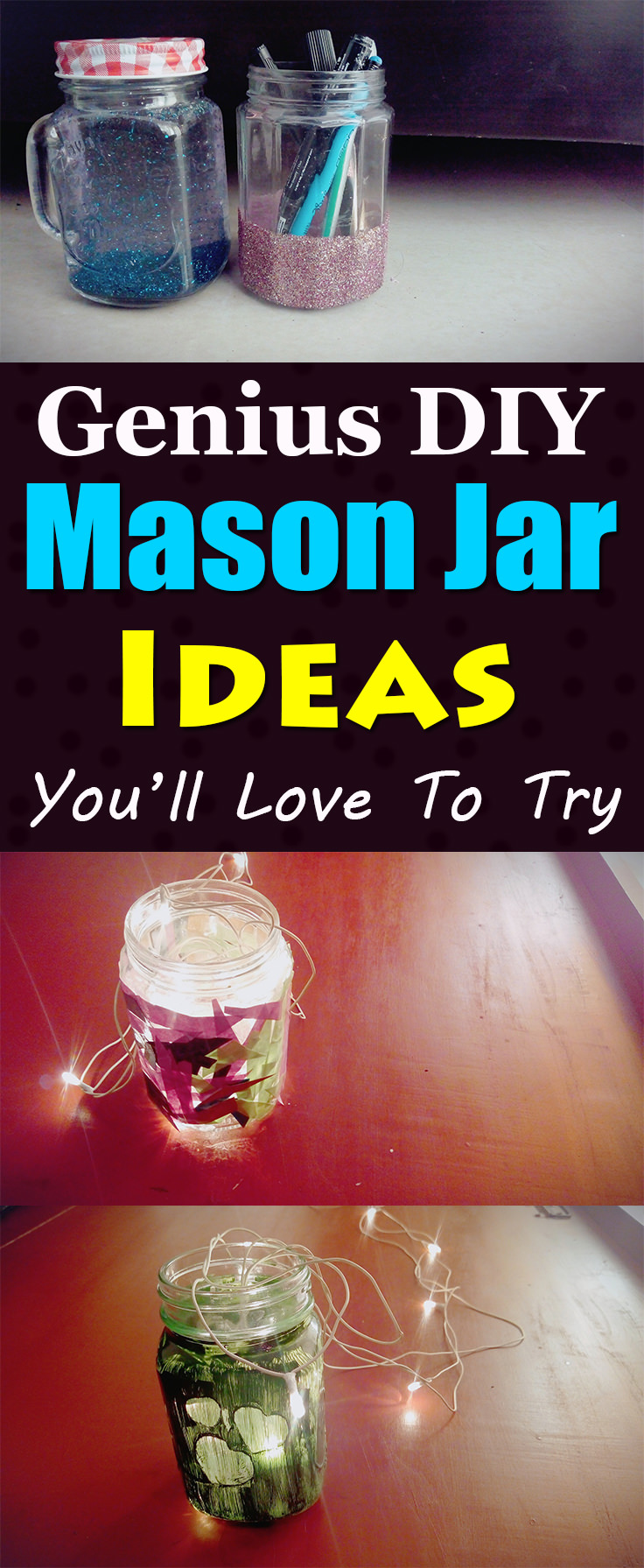 If you are looking for some really cool ideas to use mason jars, these ideas are simply awesome!