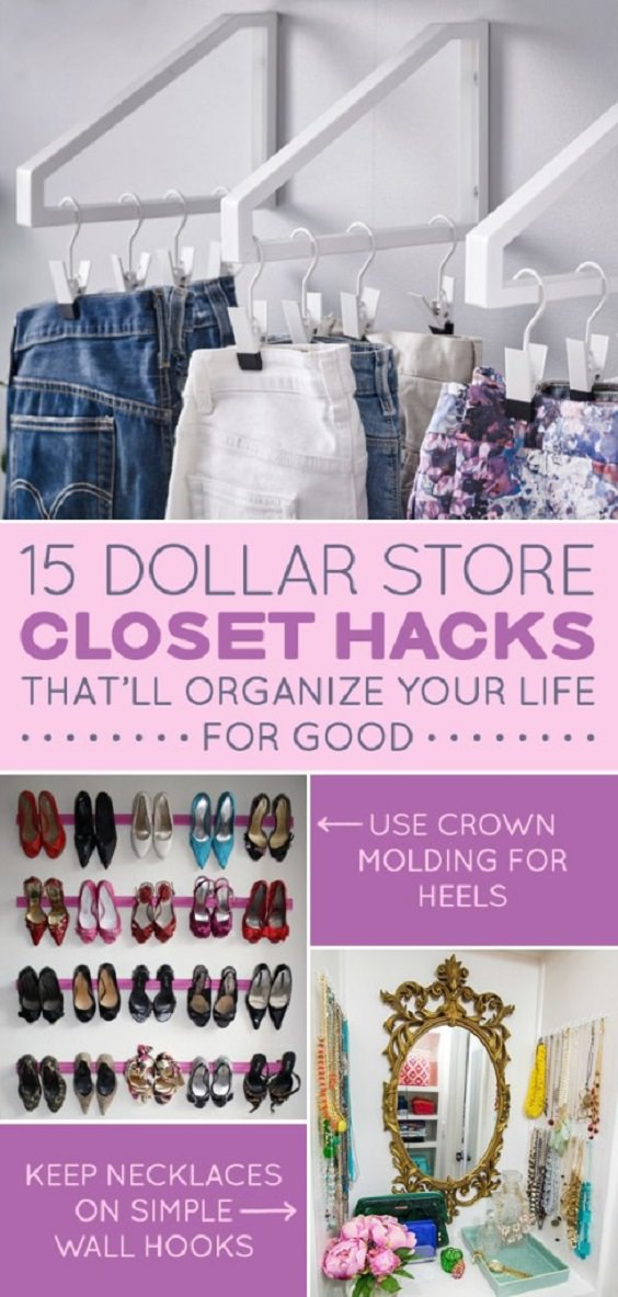 Here Are 15 Dollar Store Closet Hacks If You Have Way Too Much Shit.