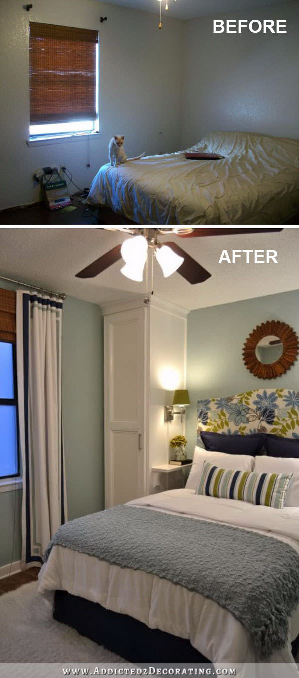 Obviously, you can't make a small bedroom bigger in size, but by applying some of these ideas, you can make it look bigger!