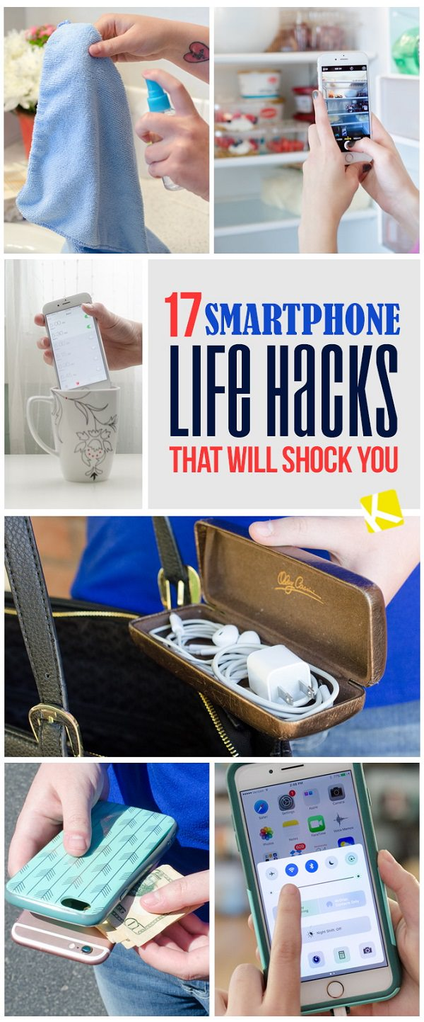 These impressive and clever smartphone life hacks will surely make your life easier than ever before!