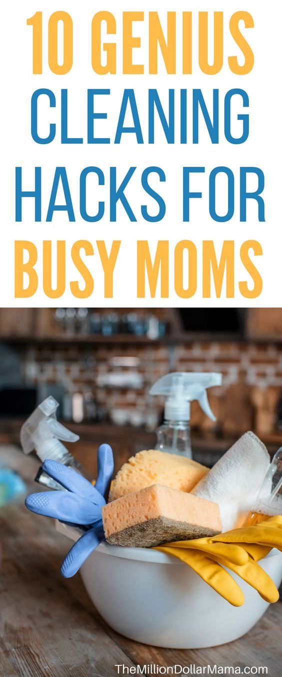 These genius cleaning hacks for busy moms will help you keep the house clean even when you just want to netflix and chill.