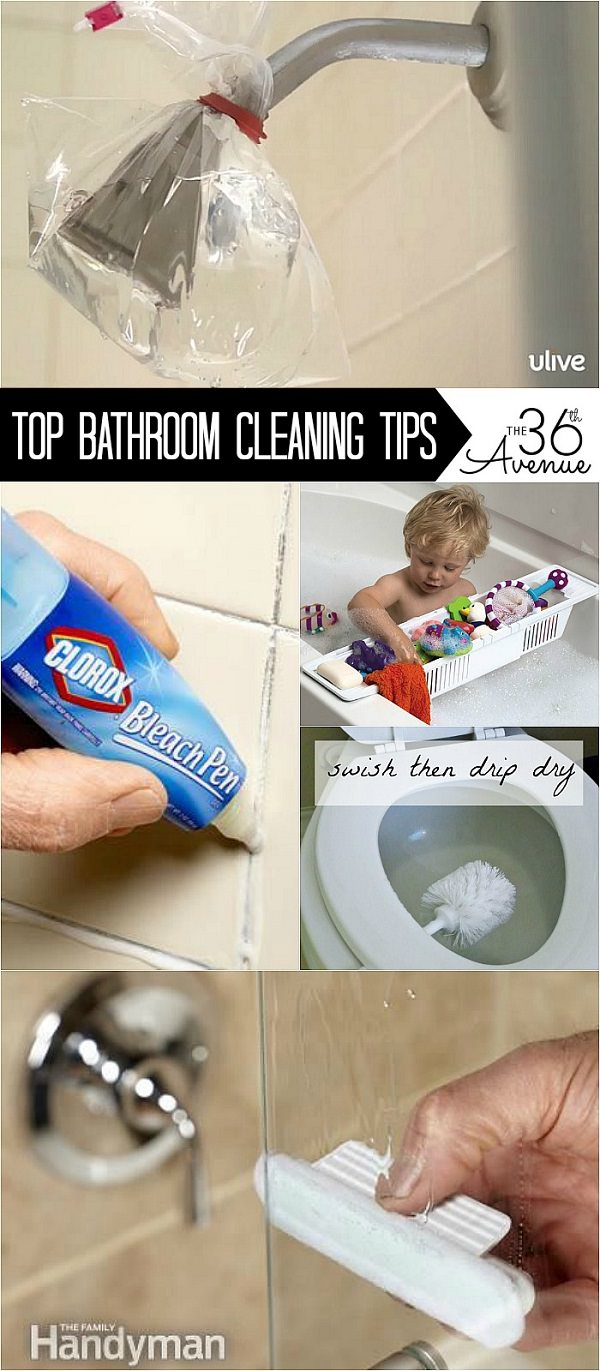 Awesome and easy ways on how to clean a bathroom. These are our top 10 favorite bathroom cleaning tips that we have found around. Check them out and happy cleaning!