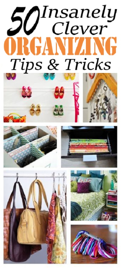 Check out these amazing tips and tricks for organizing your entire home.