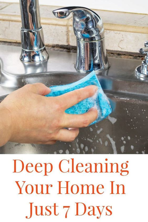 If you break it up over the course of a week you can be done deep cleaning your home in just 7 days!